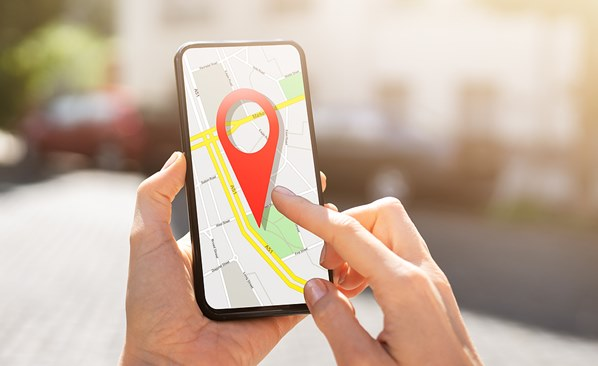 Customer's location on phone