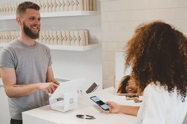 Customer at store checkout