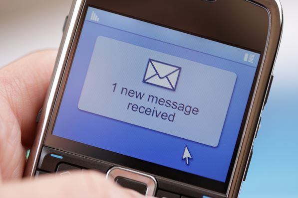 Text message om phone
