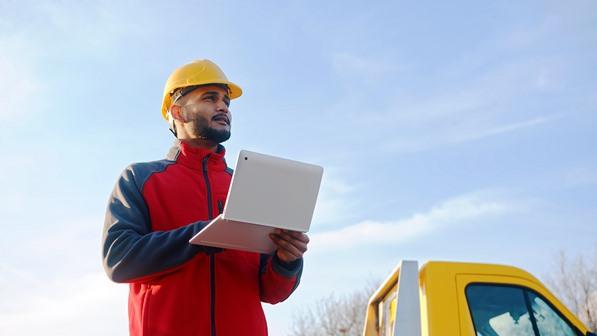 Environmental officer using EHS software