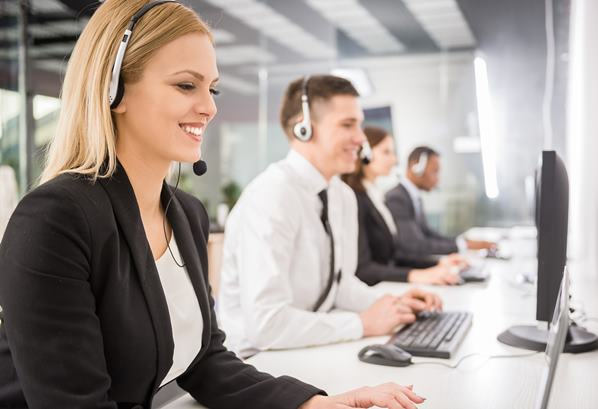 Outsourced customer support team