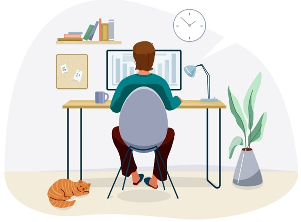 Call Centre Agent working at home