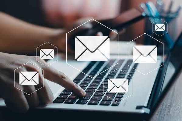 Sending emails on laptop