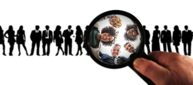 Target market magnifying glass